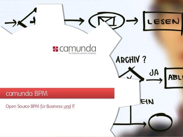 camunda BPM Open Source BPM für Business und IT