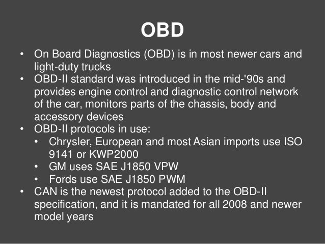 CAN Bus and OBD-II