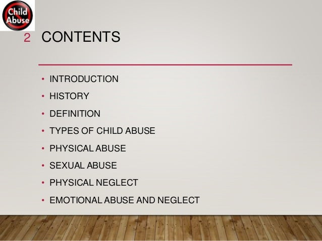 2 Types Of Child Abuse Have Same >> Child Abuse And Neglect