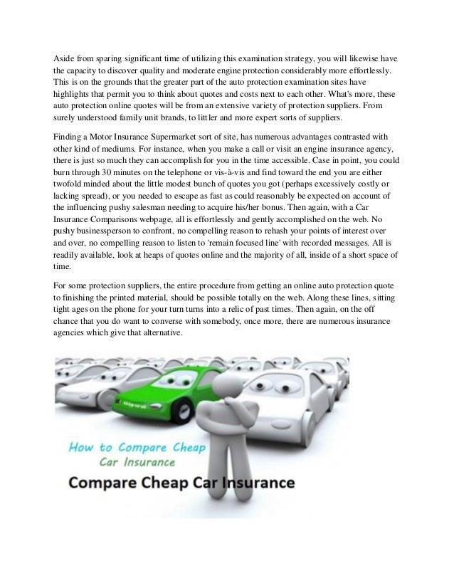 Car Insurance Supermarket Comparison
