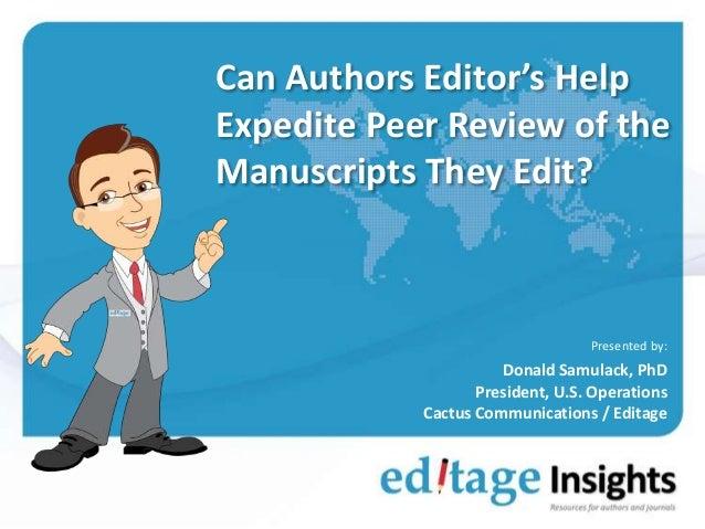 Professional Manuscript Editing