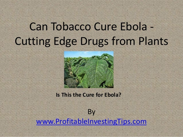 By www.ProfitableInvestingTips.com Can Tobacco Cure Ebola - Cutting Edge Drugs from Plants Is This the Cure for Ebola?