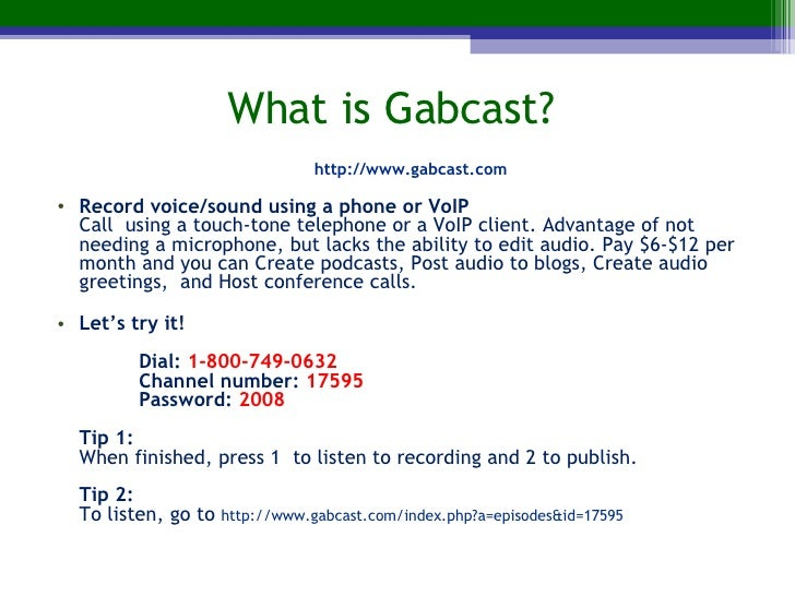 Can you Hear me Now? Audio In Online Courses (focus: Gabcast and Auda… - 웹