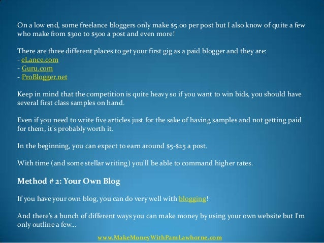 Can You Really Make 6-Figures A Year Blogging? Find Out The Answer. Slide 3