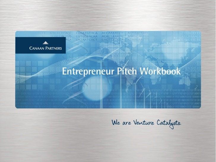 Entrepreneur Pitch Workbook