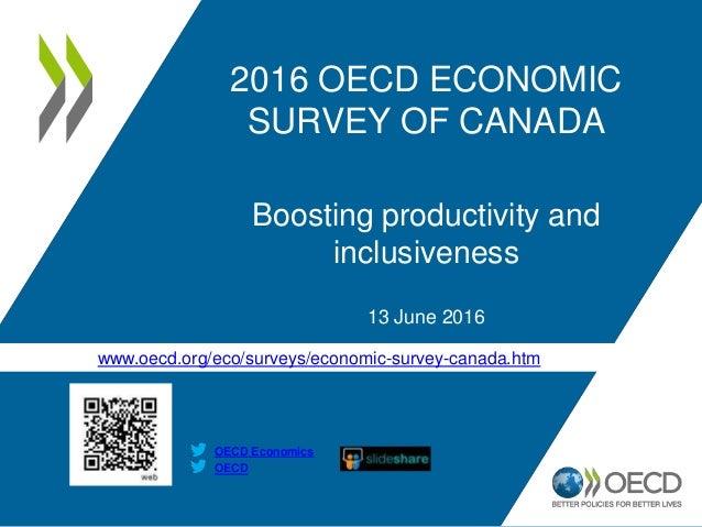 www.oecd.org/eco/surveys/economic-survey-canada.htm OECD OECD Economics 2016 OECD ECONOMIC SURVEY OF CANADA Boosting produ...