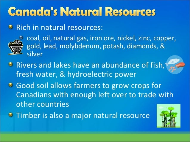 Important Natural Resources In Canada