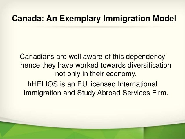 canada  an exemplary immigration model