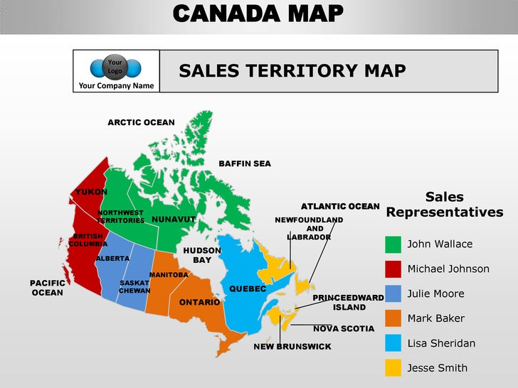 canada map sales canada country editable powerpoint maps with states and counties