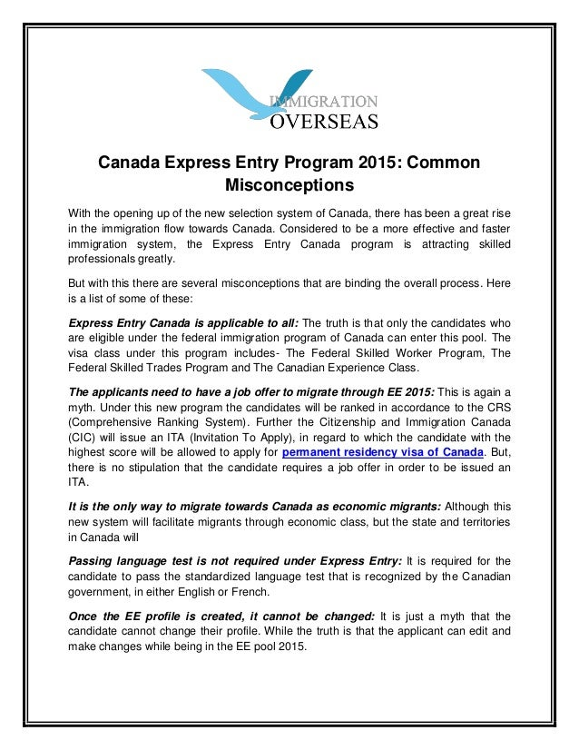 letter of explanation cic express entry letter of explanation cic express entry letter of explanat 26463 | canada express entry program 2015 1 638