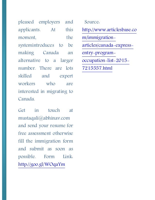 skilled migration occupations lists pdf