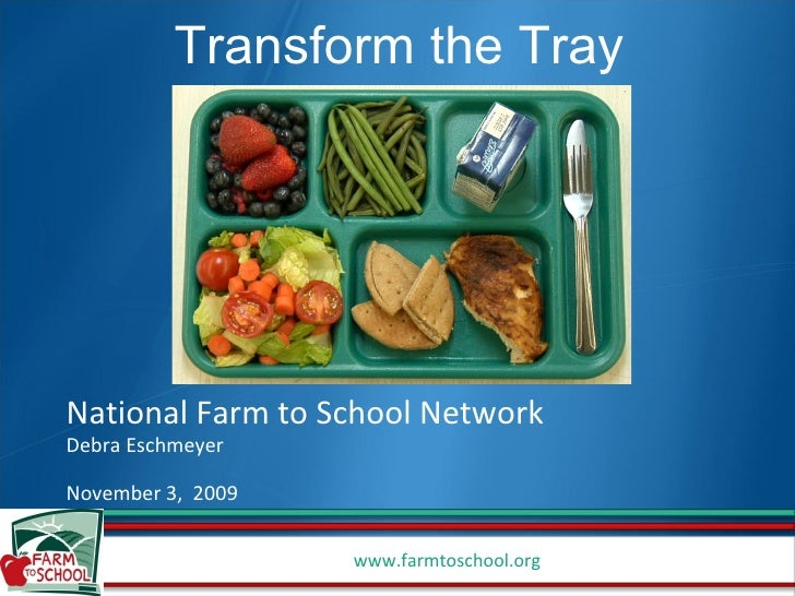 National Farm to School Network Debra Eschmeyer November 3,  2009 Transform the Tray