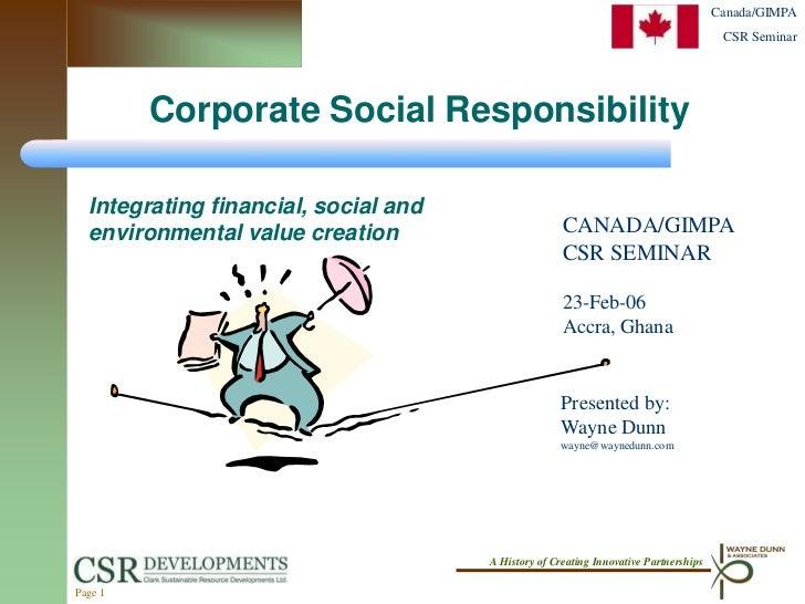 Canada/GIMPA                                                                                       CSR Seminar         Cor...