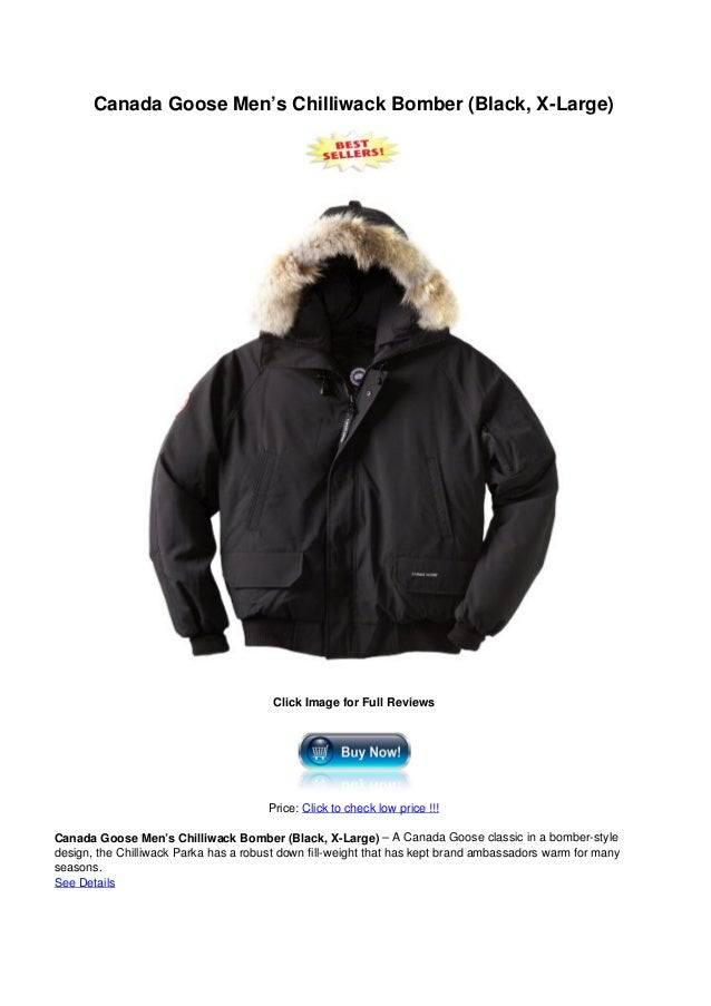 Canada Goose Men's Chilliwack Bomber (Black, X-Large)Click Image for Full ReviewsPrice: Click to check low price !!!Canada...