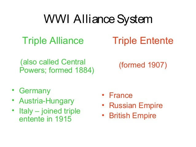 the formation of the triple alliance of germany austria hungary and italy in europe It was designed primarily to counterbalance the military coalition known as the triple alliance, which had been concluded earlier by germany, austria-hungary, and italy the negotiations leading to the formation of the triple entente were initiated by france.
