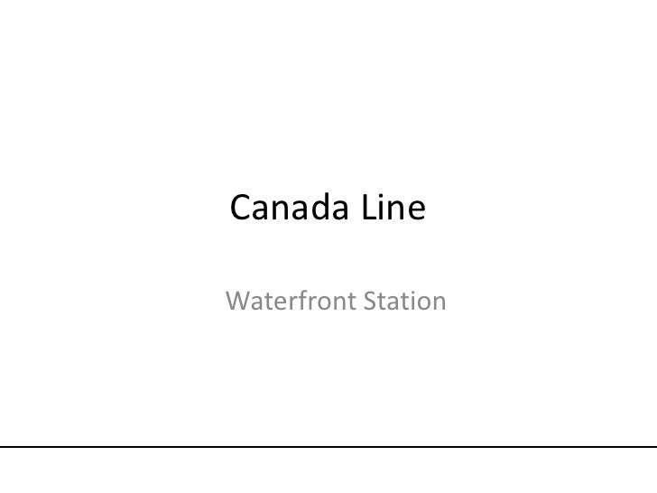 Canada Line<br />Waterfront Station<br />