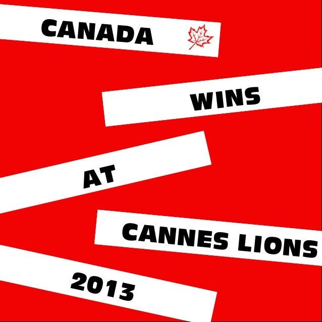 CANADAWINSCANNES LIONSAT2013
