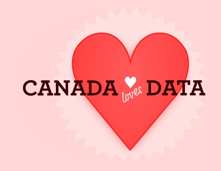 Canada Loves Data - Valentine Card (front)
