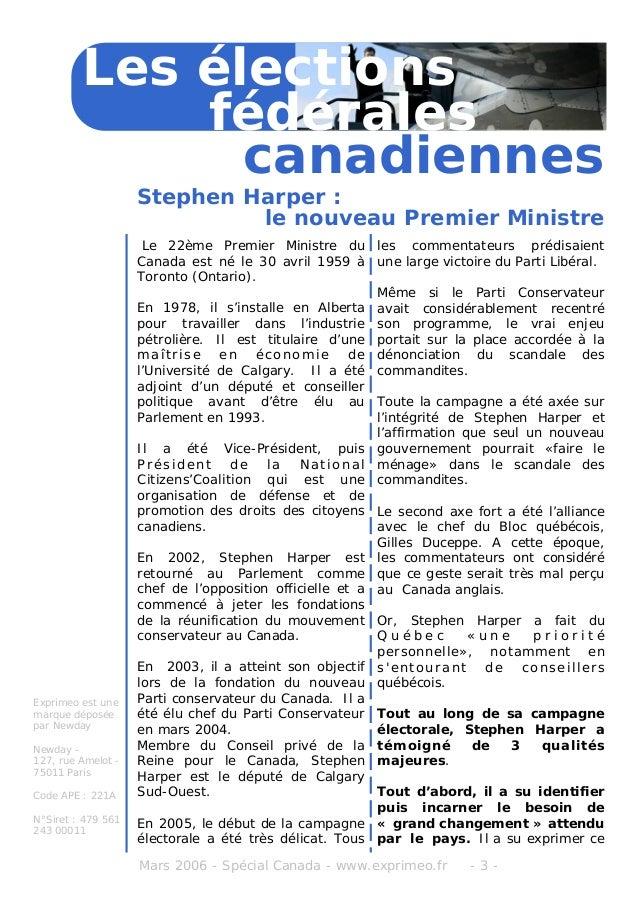Canada élections 2006 Slide 3