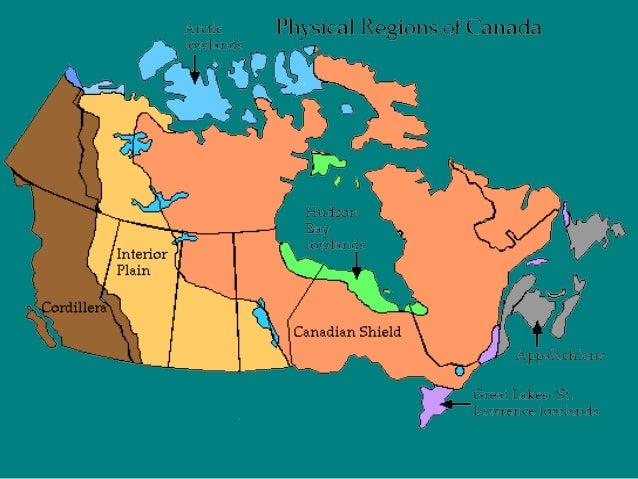 Canada Physical Features - Physical features map of canada