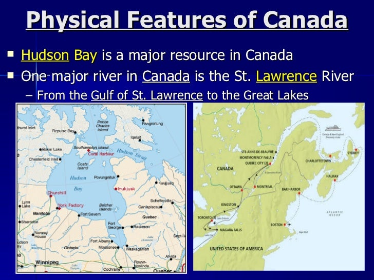 Canada Physical Features Natural Resources And Climate - Physical features of canada and the united states