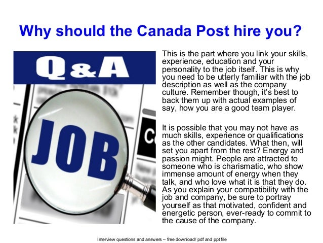 resume examples for canada post