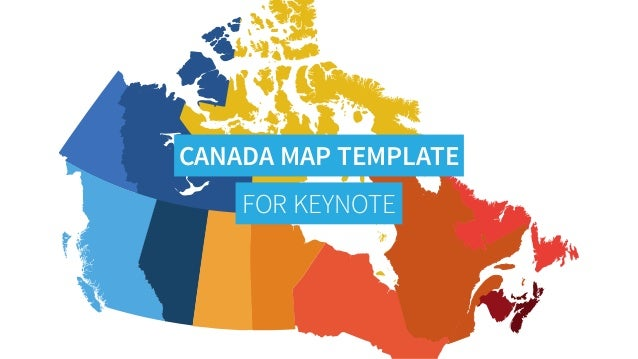 Map Of Canada Template.Canada Map For Powerpoint Keynote