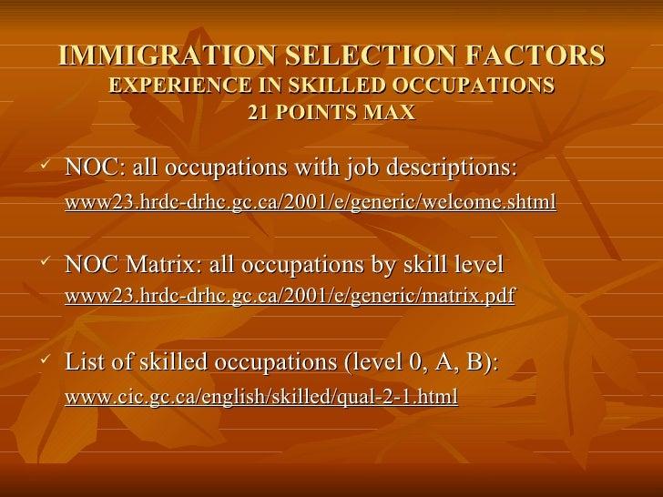 skilled occupation list canada 2017 pdf