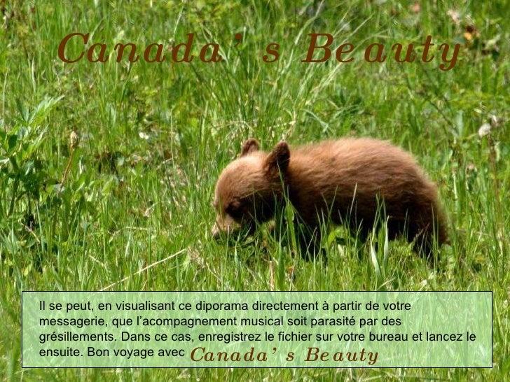 Canada's Beauty Il se peut, en visualisant ce diporama directement à partir de votre messagerie, que l'acompagnement music...