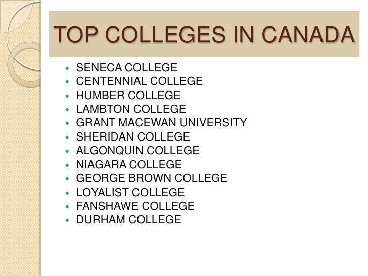 Kết quả hình ảnh cho best college in Canada