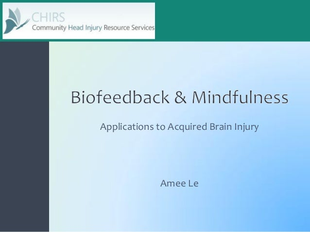 Amee Le Applications to Acquired Brain Injury