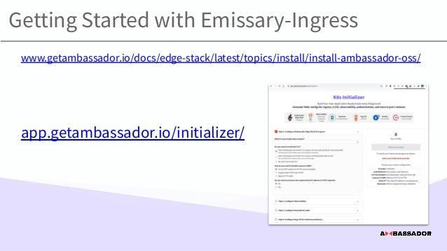 "Canadian CNCF: ""Emissary-ingress 101: An introduction to the CNCF incubation-level API gateway"""
