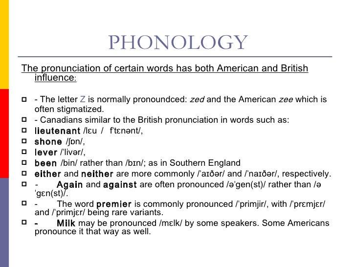 CANADIAN ENGLISH PRONUNCIATION PDF