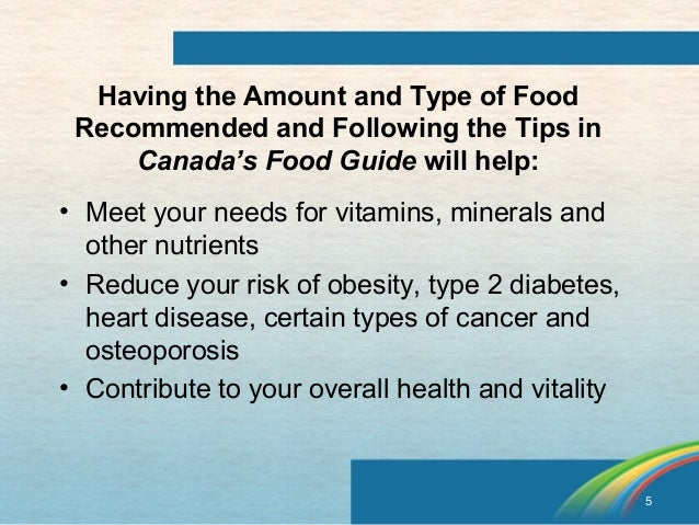 the canada food guide essay Nutrition report – essay sample  health canada recommends that the maximum salt (sodium) intake per day is 2300 mgs/day  the bad food guide denny's honey .