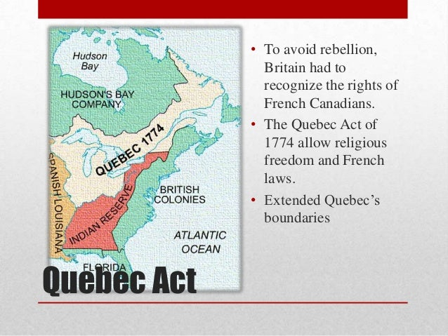 a historical background of the quebec law The essays in this volume deal with the legal history of the province of quebec,  upper and lower canada, and the province of canada between the british.