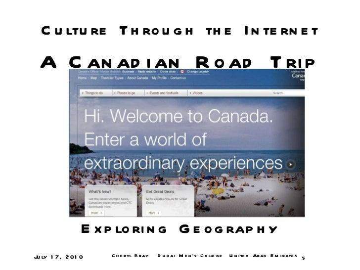 Canadian road trip: Culture through the Internet