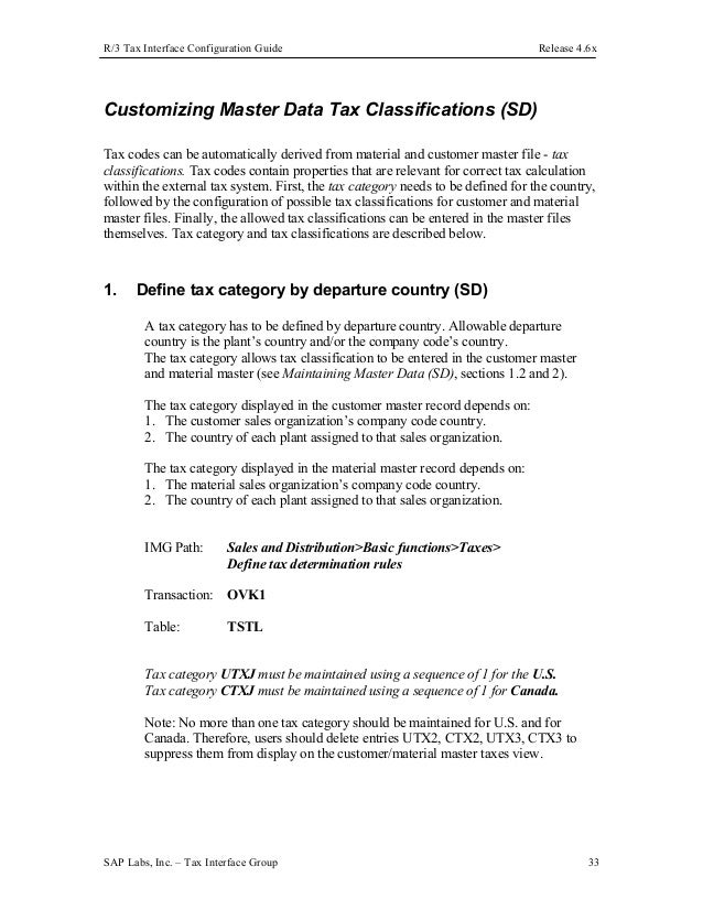 Canadian tax configuration in sap