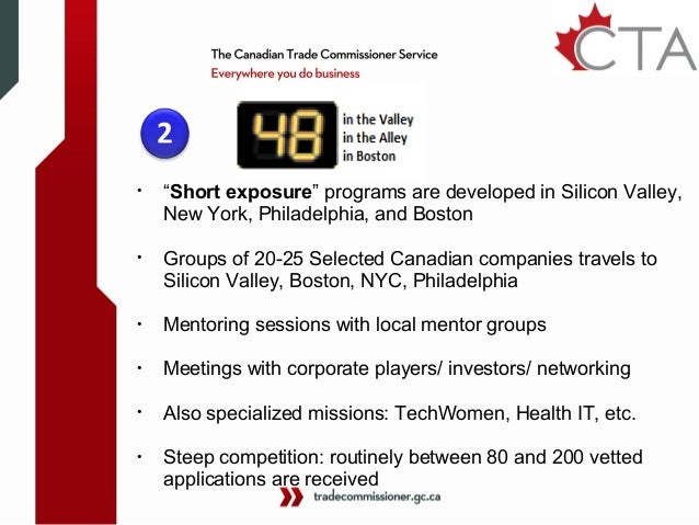 Canadian technology accelerator (CTA) overview 2013