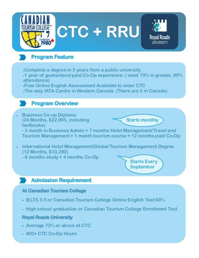 canadian tourism college rru+ctc english