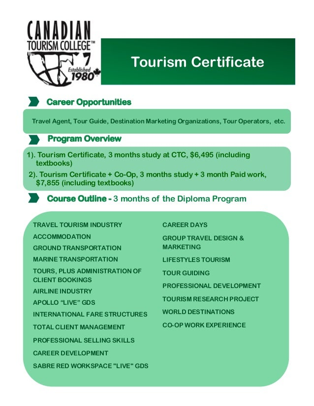 canadian tourism college tt certificates