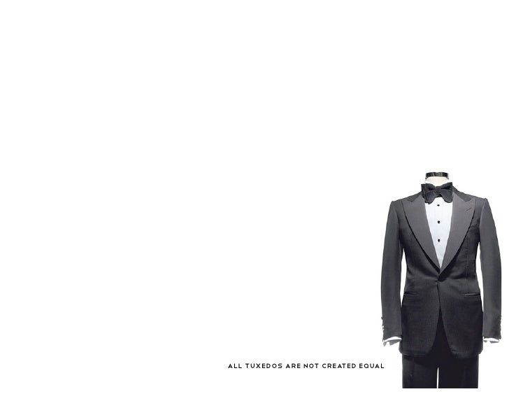 All tuxedos are not created equal
