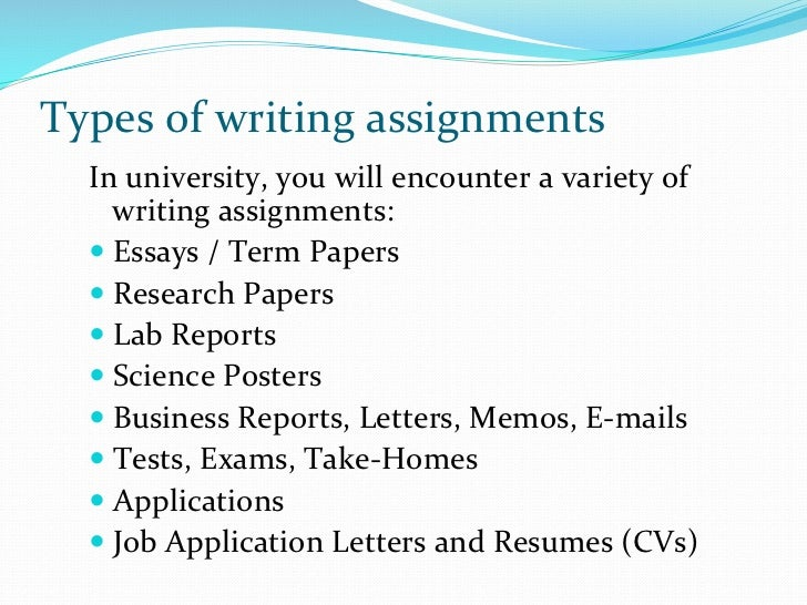 how to write a assignment at university