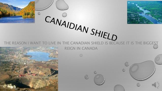 THE REASON I WANT TO LIVE IN THE CANADIAN SHIELD IS BECAUSE IT IS THE BIGGEST  REIGN IN CANADA  