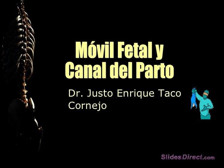 Dr. Justo Enrique Taco Cornejo Móvil Fetal y Canal del Parto