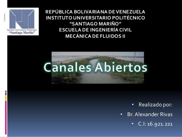 """REPÚBLICA BOLIVARIANA DE VENEZUELA INSTITUTO UNIVERSITARIO POLITÉCNICO """"SANTIAGO MARIÑO"""" ESCUELA DE INGENIERÍA CIVIL MECÁN..."""