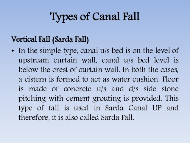 Canal Fall