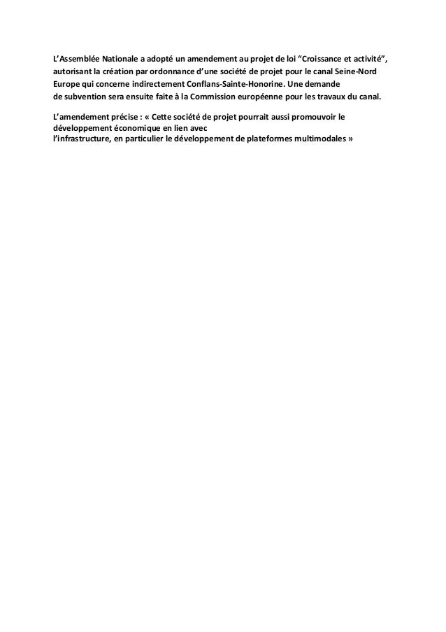 "L'AssembléeNationaleaadoptéunamendementauprojetdeloi""Croissanceetactivité"", autorisantlacréationparordonn..."