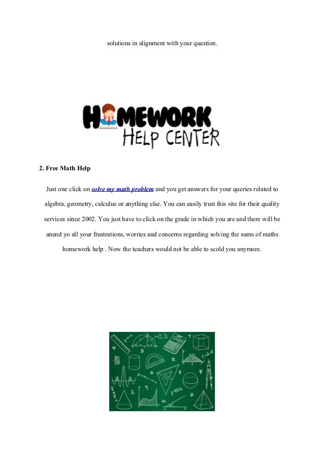 help me with my math homework for free