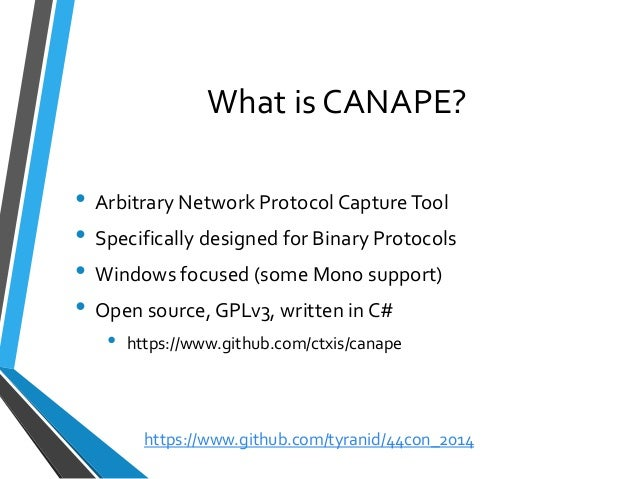 44con 2014 binary protocol analysis with canape james