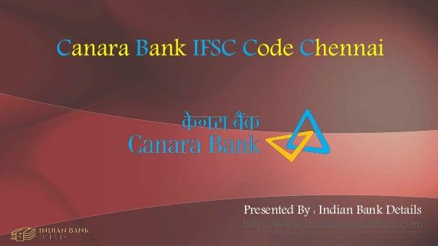 canara bank ifsc code chennai kodambakkam